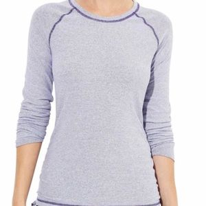 Lucy Activewear Dashing Stripes Ruched LS